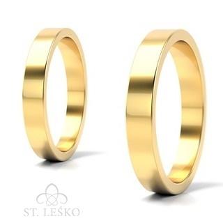 Obrączki z żółtego złota (10001A)