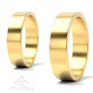 Obrączki z żółtego złota (10001B)