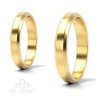 Obrączki z żółtego złota (10002A)