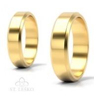 Obrączki z żółtego złota (10002B)