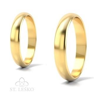 Obrączki z żółtego złota (10003A)