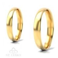 Obrączki z żółtego złota (10004A)