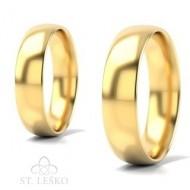Obrączki z żółtego złota (10004B)